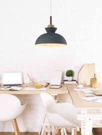 Interior with creative designer workspace